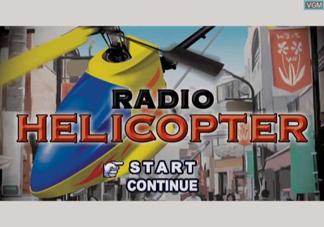 Menu screen of the game Radio Helicopter on Sony Playstation 2