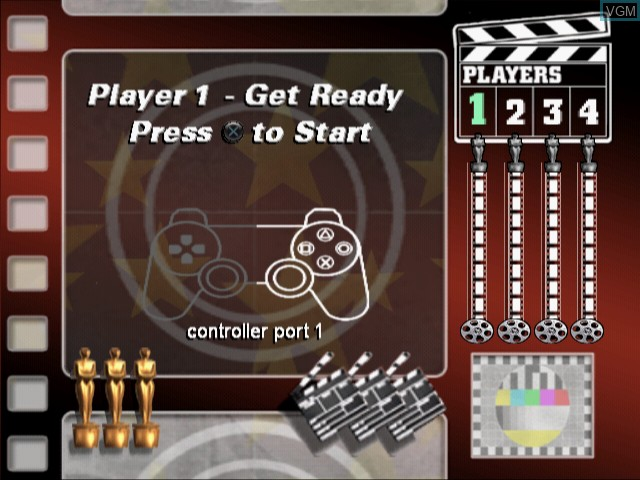 Menu screen of the game Ultimate Music Quiz, The on Sony Playstation 2