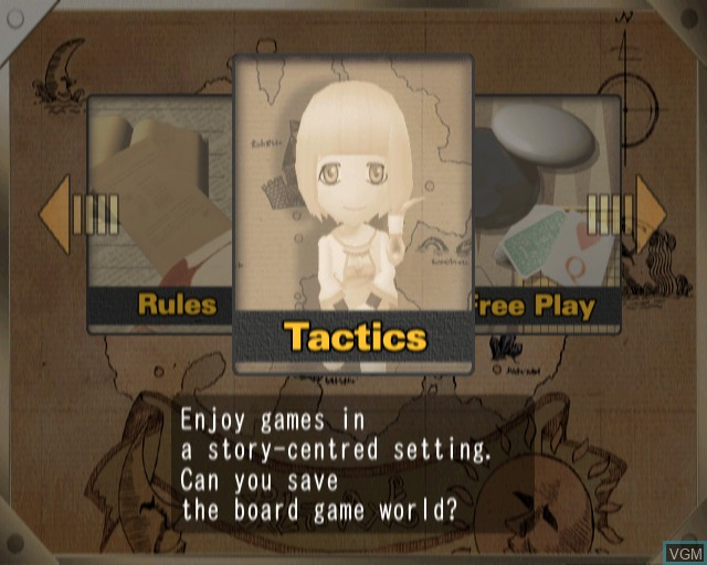 Menu screen of the game Ultimate Mind Games on Sony Playstation 2