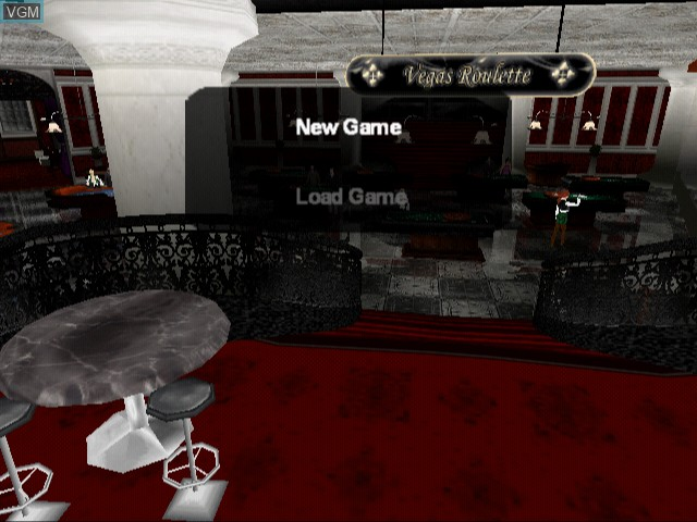 Menu screen of the game Vegas Casino 2 on Sony Playstation 2
