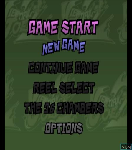 Menu screen of the game Viewtiful Joe 2 on Sony Playstation 2