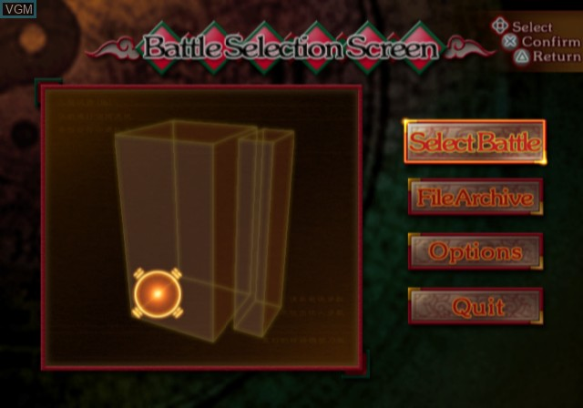 Menu screen of the game Zombie Attack on Sony Playstation 2