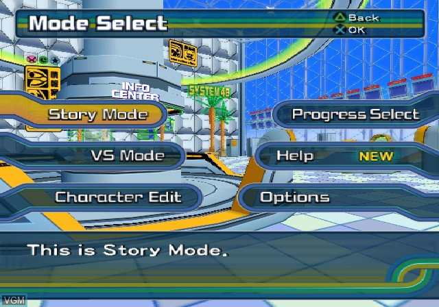 Menu screen of the game Ape Escape - Pumped & Primed on Sony Playstation 2
