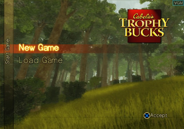 Menu screen of the game Cabela's Trophy Bucks on Sony Playstation 2