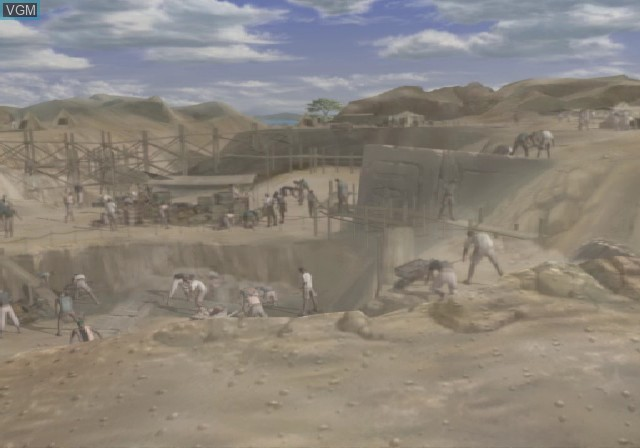 Menu screen of the game Xenosaga Episode I - Der Wille zur Macht on Sony Playstation 2