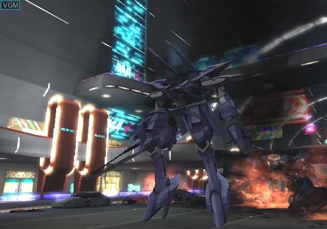 Menu screen of the game Xenosaga Episode II - Jenseits von Gut und Bose on Sony Playstation 2