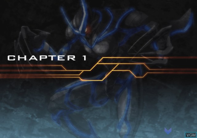 Menu screen of the game Hametsu no Mars on Sony Playstation 2