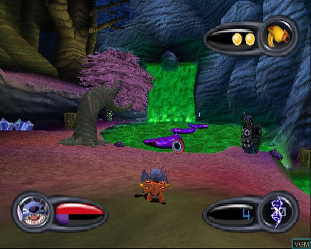 In-game screen of the game Stitch - Experiment 626 on Sony Playstation 2