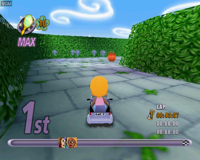 In-game screen of the game Action Girlz Racing on Sony Playstation 2
