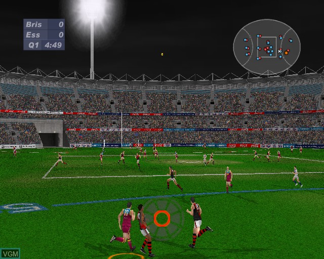 In-game screen of the game AFL Live 2003 on Sony Playstation 2