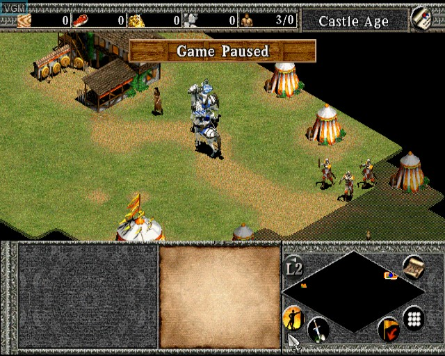 In-game screen of the game Age of Empires II - The Age of Kings on Sony Playstation 2