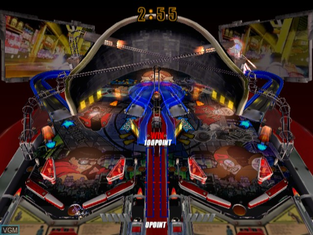 In-game screen of the game Akira Psycho Ball on Sony Playstation 2