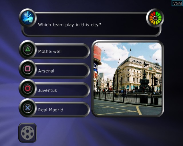 In-game screen of the game Alan Hansen's Sports Challenge on Sony Playstation 2