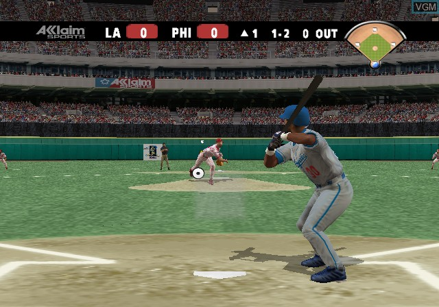 In-game screen of the game All-Star Baseball 2004 on Sony Playstation 2