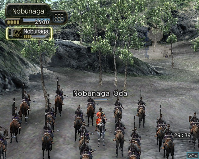 In-game screen of the game Kessen III on Sony Playstation 2