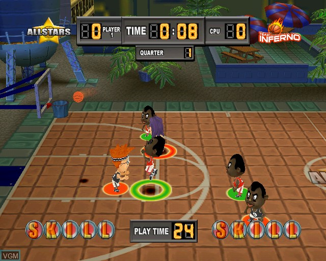 In-game screen of the game Kidz Sports Basketball on Sony Playstation 2