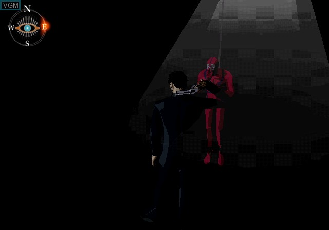 In-game screen of the game Killer7 on Sony Playstation 2