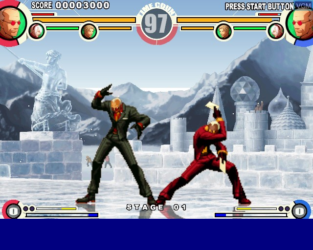 In-game screen of the game King of Fighters XI, The on Sony Playstation 2