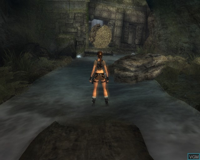 In-game screen of the game Tomb Raider - Legend on Sony Playstation 2