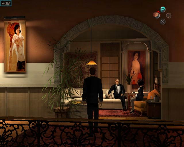 In-game screen of the game Largo Winch - Empire Under Threat on Sony Playstation 2