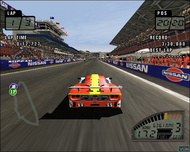 In-game screen of the game Le Mans 24 Hours on Sony Playstation 2