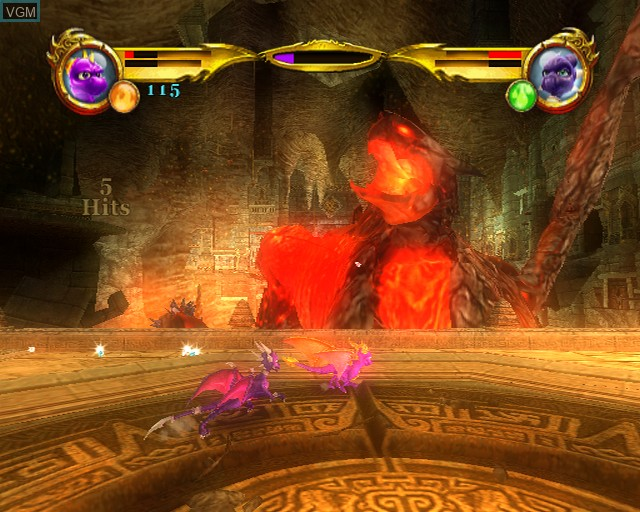 In-game screen of the game Legend of Spyro, The - Dawn of the Dragon on Sony Playstation 2