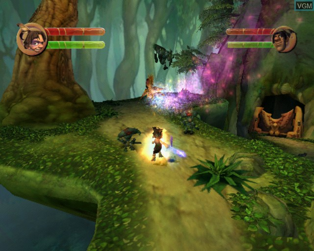 In-game screen of the game Tak - The Great Juju Challenge on Sony Playstation 2