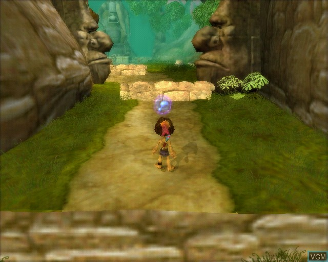 In-game screen of the game Tak and the Guardians of Gross on Sony Playstation 2