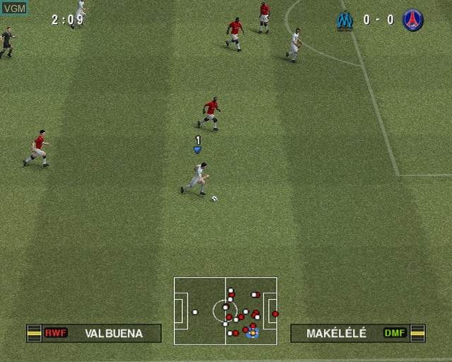 In-game screen of the game Pro Evolution Soccer 2011 on Sony Playstation 2