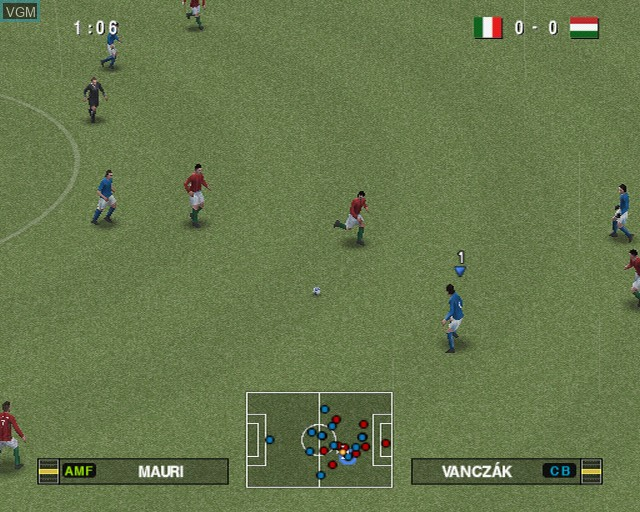 In-game screen of the game Pro Evolution Soccer 2012 on Sony Playstation 2