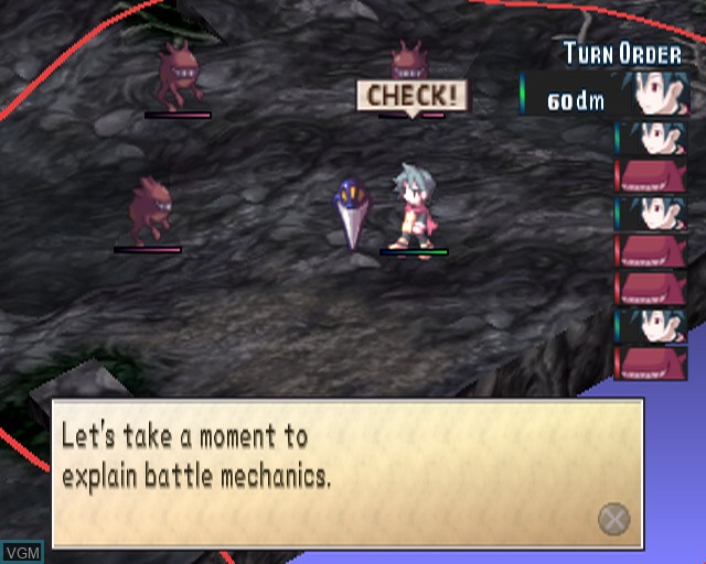 In-game screen of the game Phantom Brave on Sony Playstation 2