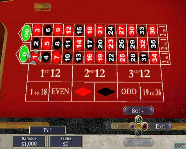 In-game screen of the game Playwize Poker & Casino on Sony Playstation 2
