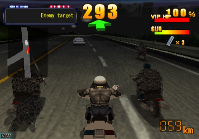 In-game screen of the game Police Chase Down on Sony Playstation 2