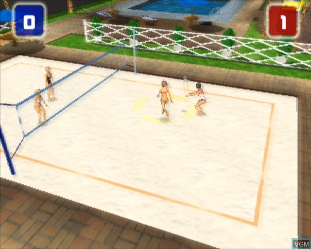 In-game screen of the game Power Volleyball on Sony Playstation 2