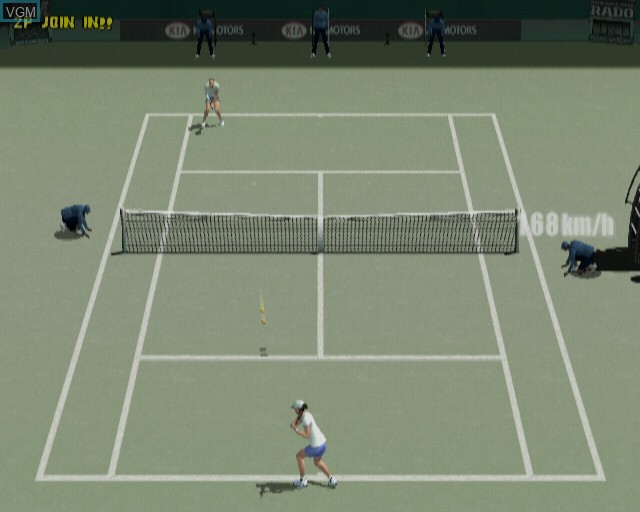 In-game screen of the game Smash Court Tennis Pro Tournament on Sony Playstation 2