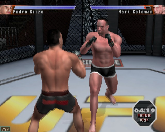 In-game screen of the game UFC - Sudden Impact on Sony Playstation 2