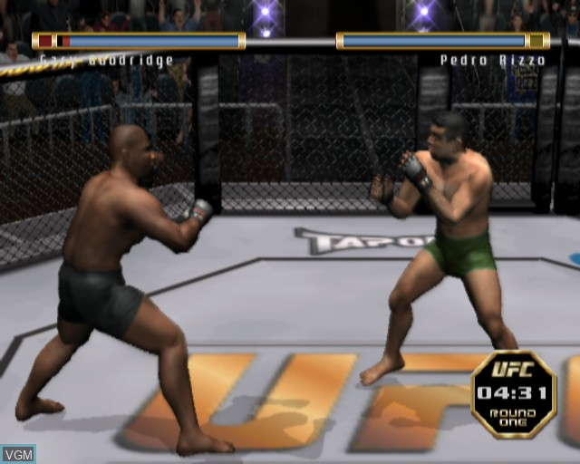 In-game screen of the game Ultimate Fighting Championship - Throwdown on Sony Playstation 2