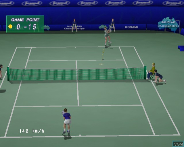 In-game screen of the game WTA Tour Tennis on Sony Playstation 2