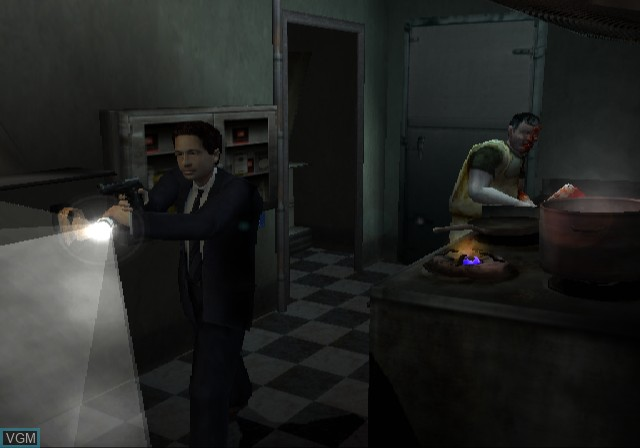 In-game screen of the game X-Files, The - Resist or Serve on Sony Playstation 2