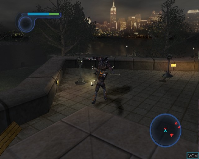 In-game screen of the game X-Men - The Official Game on Sony Playstation 2