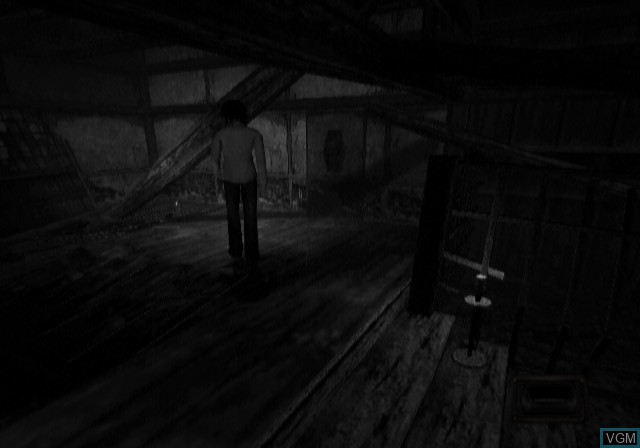 In-game screen of the game Fatal Frame on Sony Playstation 2