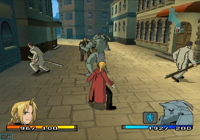 In-game screen of the game Fullmetal Alchemist 2 - Curse of the Crimson Elixir on Sony Playstation 2