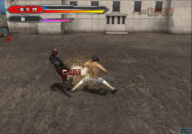 In-game screen of the game Uchuu Keiji Tamashii - The Space Sheriff Spirits on Sony Playstation 2