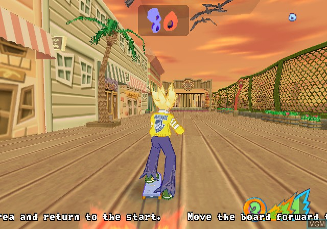 In-game screen of the game Yanya Caballista - City Skater on Sony Playstation 2