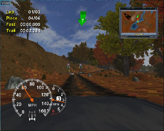 In-game screen of the game 4X4 EVO 2 on Sony Playstation 2