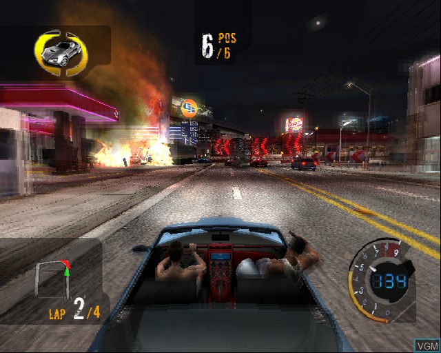 In-game screen of the game 187 Ride or Die on Sony Playstation 2