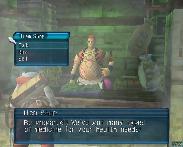 In-game screen of the game .hack//Mutation Part 2 on Sony Playstation 2