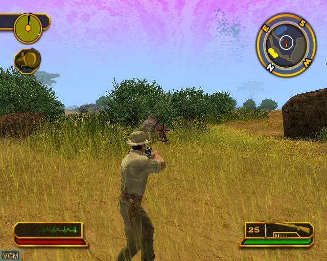 In-game screen of the game Cabela's African Safari on Sony Playstation 2