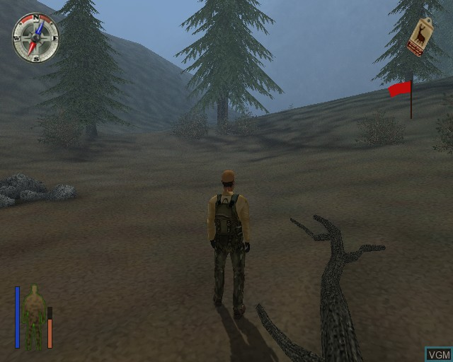 In-game screen of the game Cabela's Big Game Hunter on Sony Playstation 2