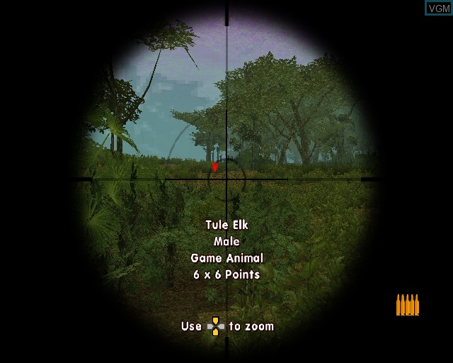 In-game screen of the game Cabela's Big Game Hunter 2005 Adventures on Sony Playstation 2